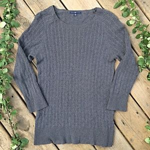 {Gap} Grey Cable Knit Sweater